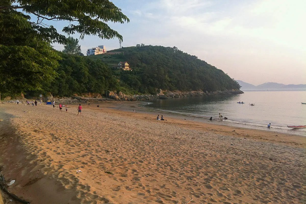 Sachon Beach in Namhae Island, South Korea