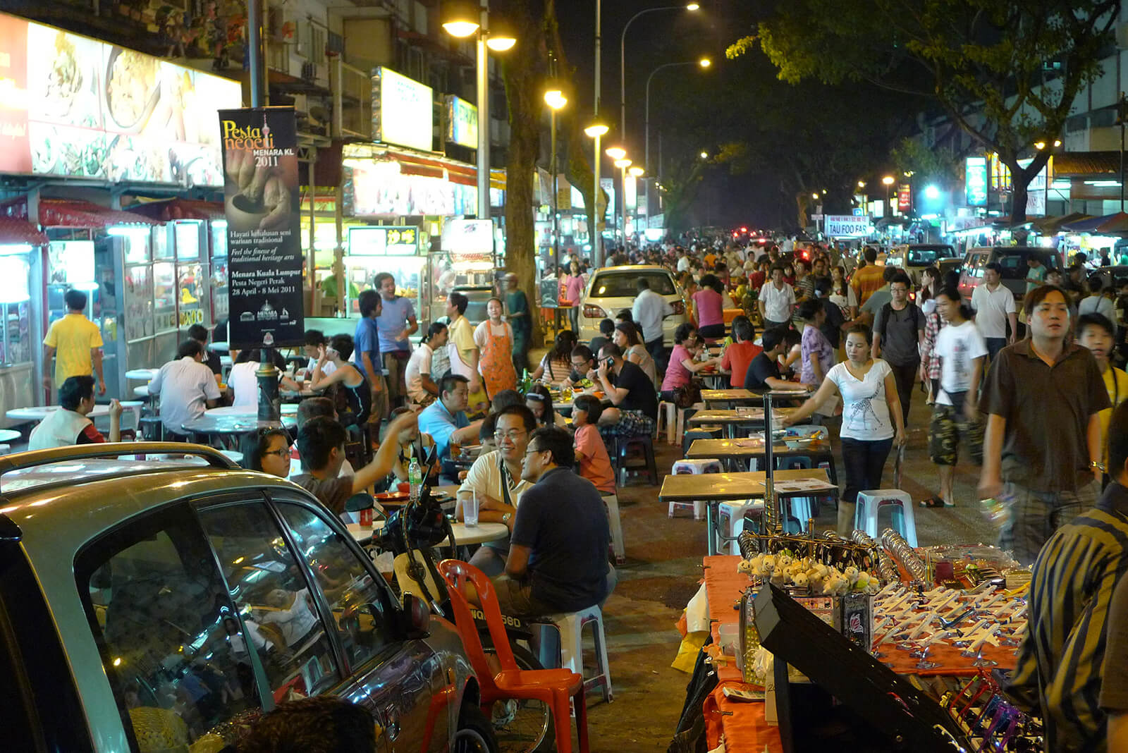 The delicious roadside food stalls of Jalan Alor in Kuala Lumpur, Malaysia