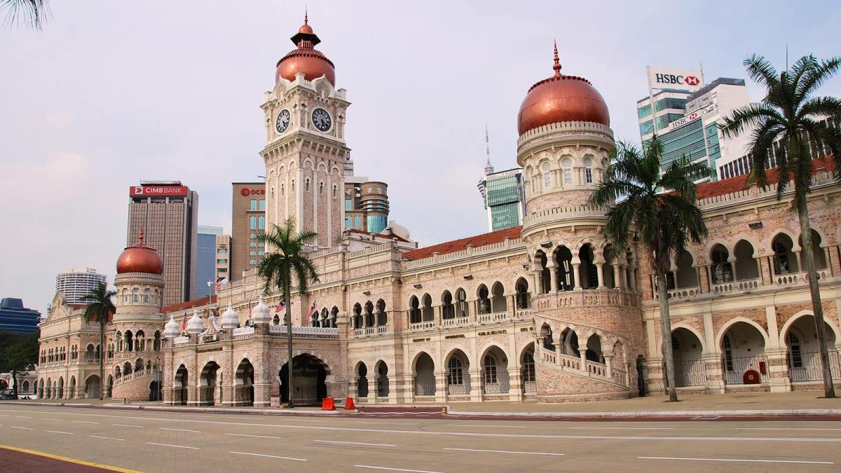 The Sultan Abdul Samad Building is a great example of historic architecture and one of the top things to do in Kuala Lumpur, Malaysia