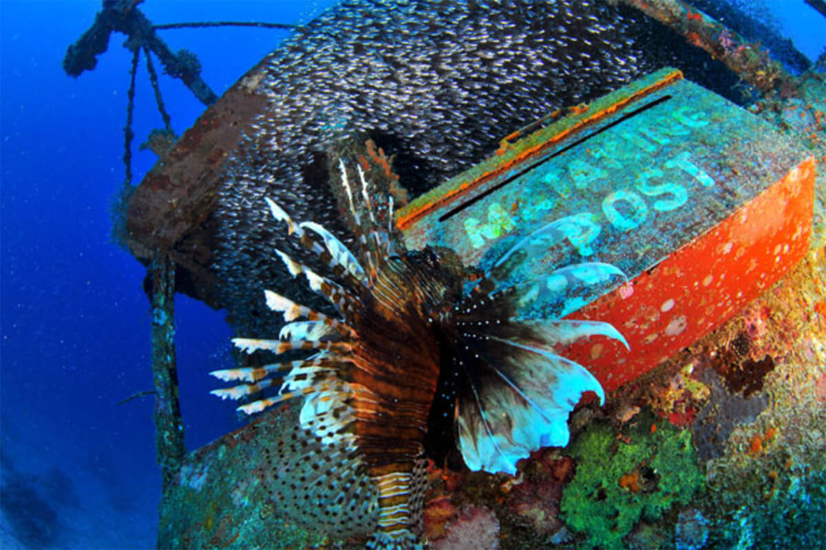 Underwater post office at Mataking Island off the coast of Semporna, Sabah
