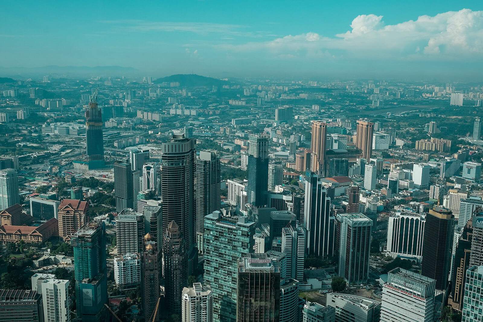 View from the Petronas Twin Towers, one of the top things to do in Kuala Lumpur, Malaysia