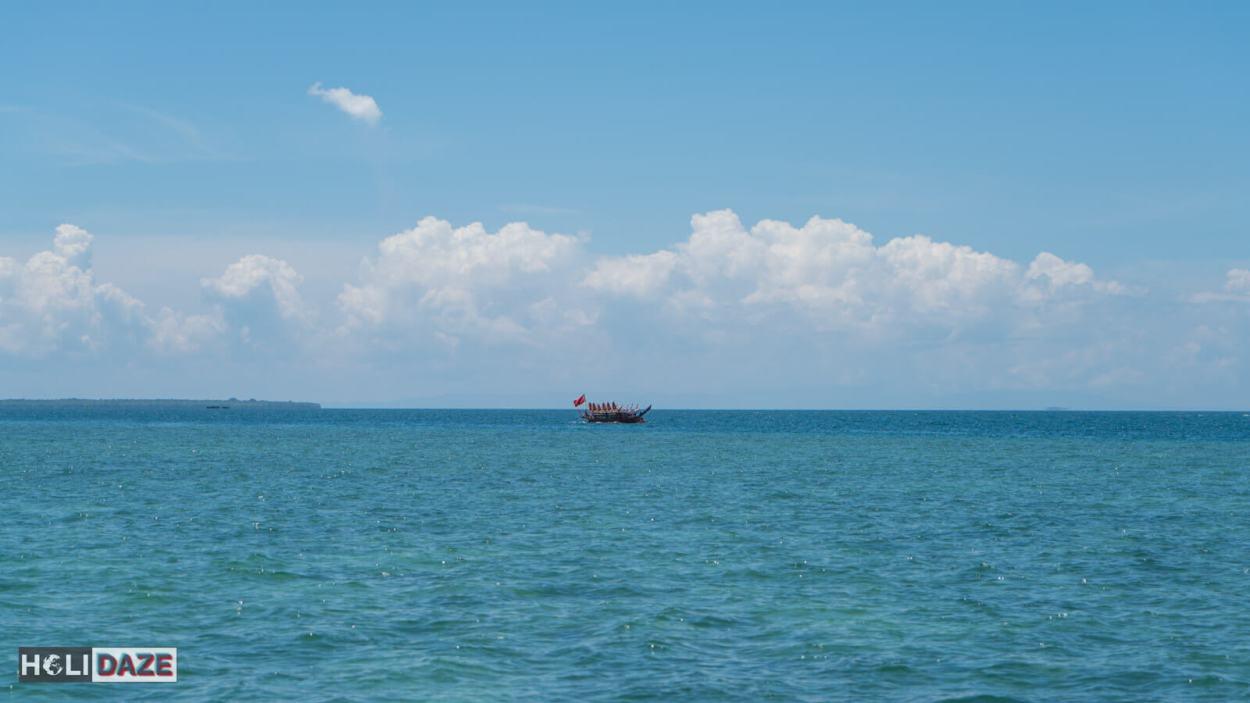 Boats arriving for the Regatta Lepa festival in Semporna, Sabah