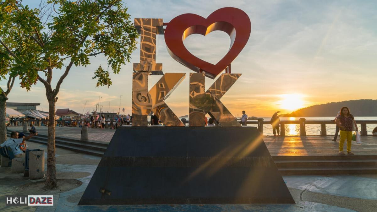 The 'I love KK' sign is one of the top places to view the sunset in Kota Kinabalu