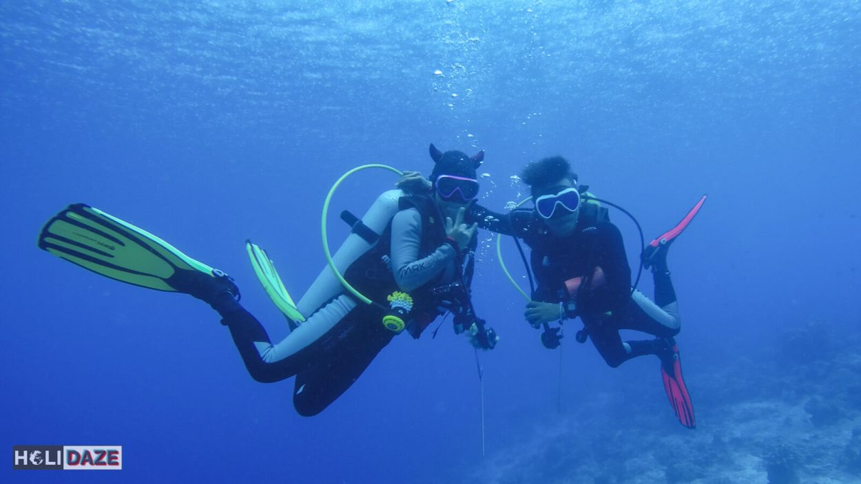 Joined the devil diver while scuba diving Sipadan Island at Barracuda Point in Sabah, Malaysia