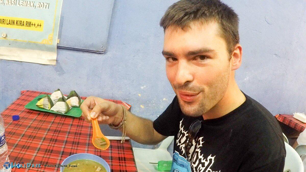 Sop lidah lembu (kambing), otherwise known as goat tongue soup