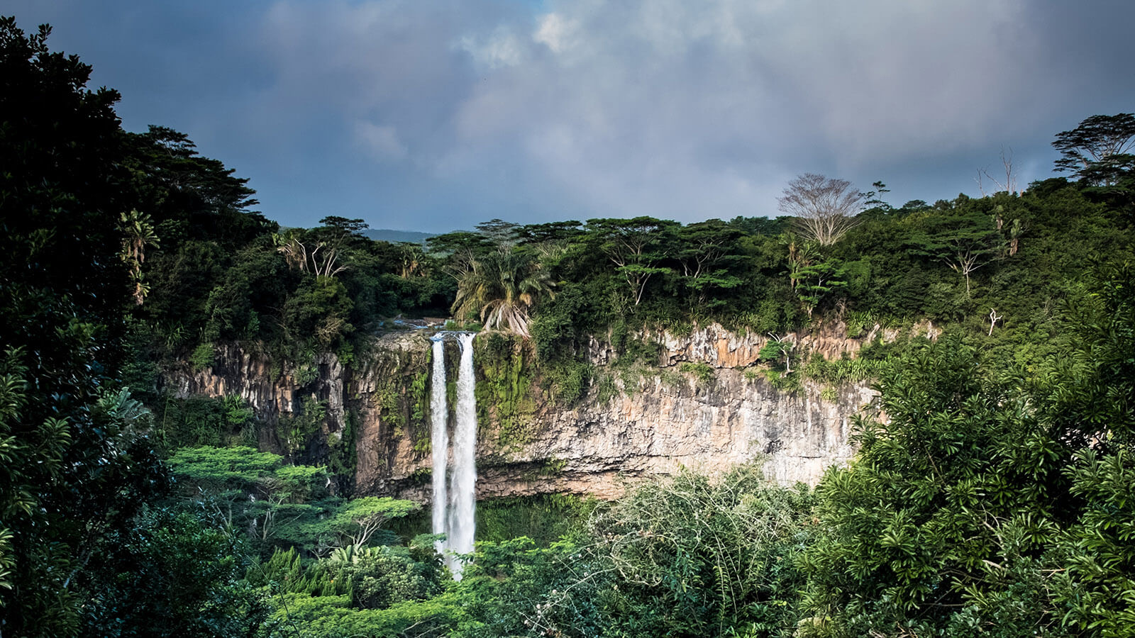 The Chamarel Waterfall in Mauritius is a beautiful and popular tourist destination