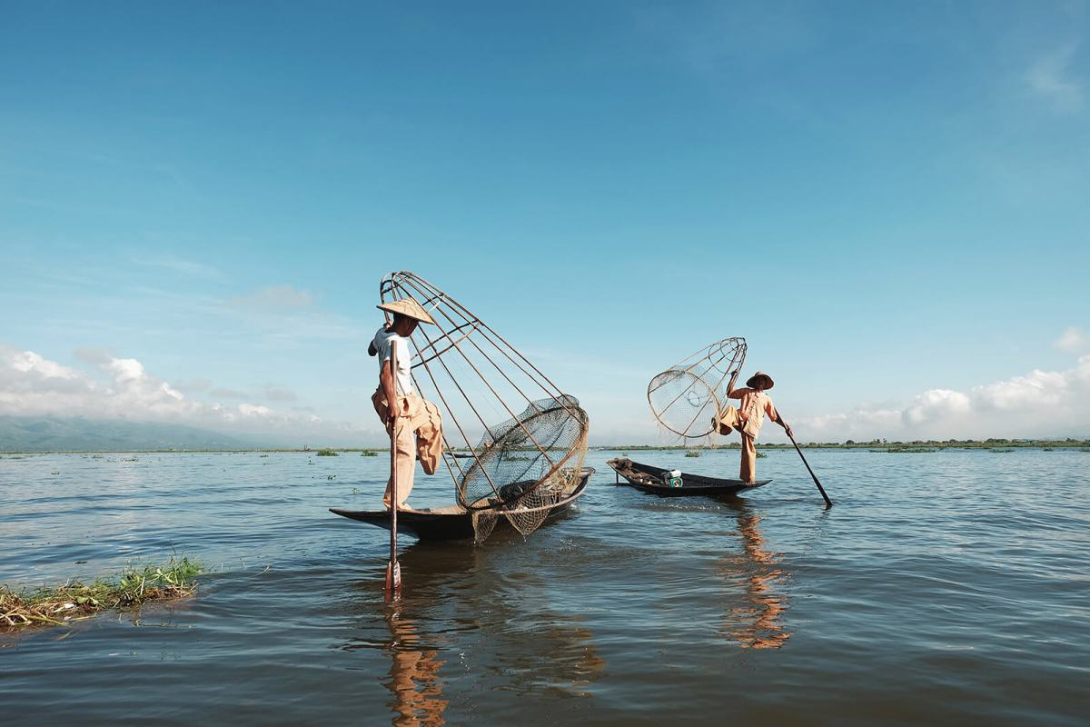 Local fisherman at Inle Lake, Myanmar