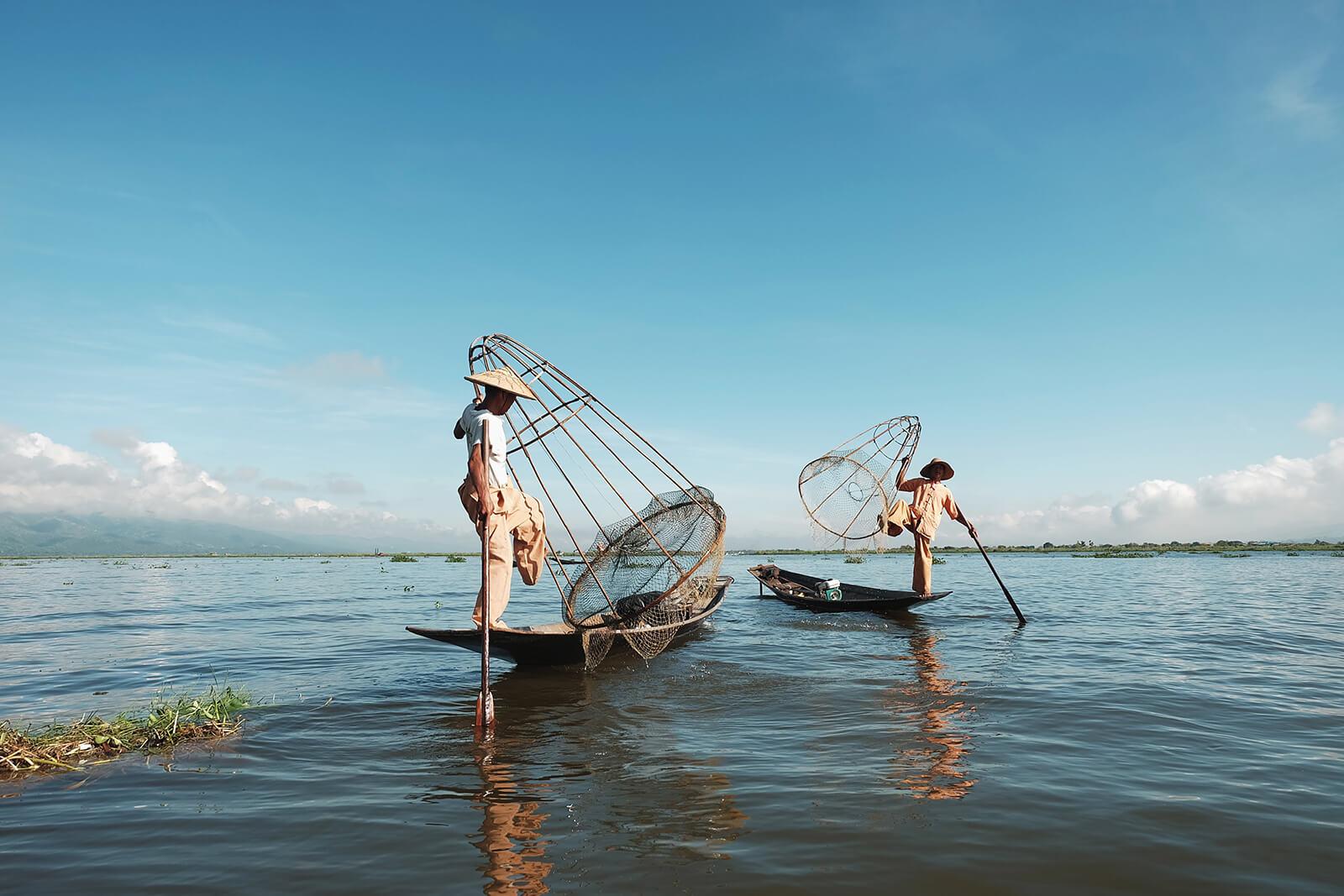 Local fisherman at Inle Lake, Myanmar