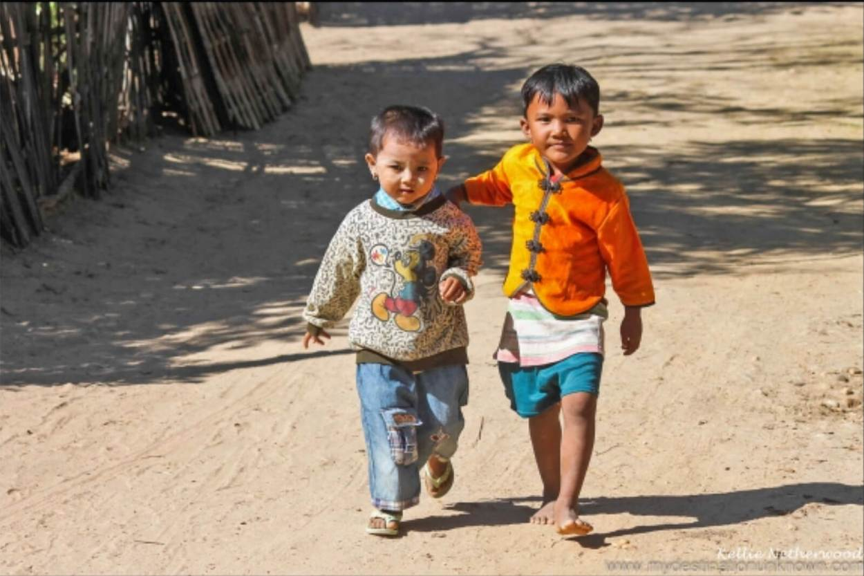 Local kids in Myanmar
