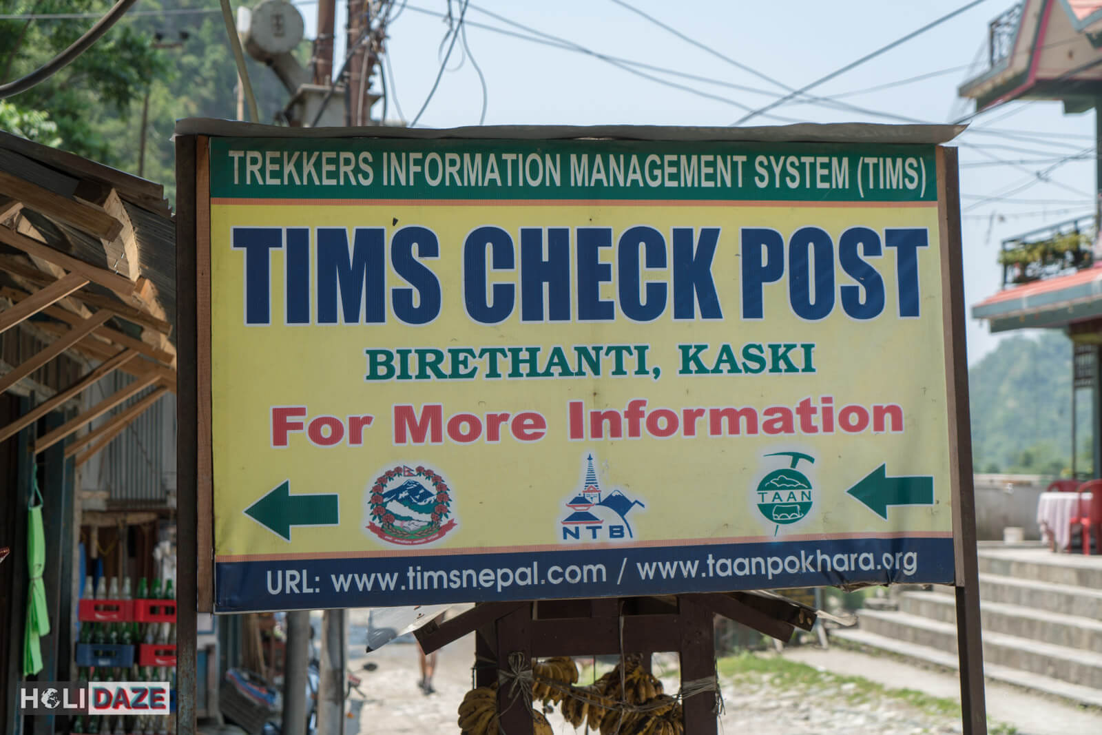 Birethanti TIMS checkpost in the Annapurna Conservation Area of Nepal