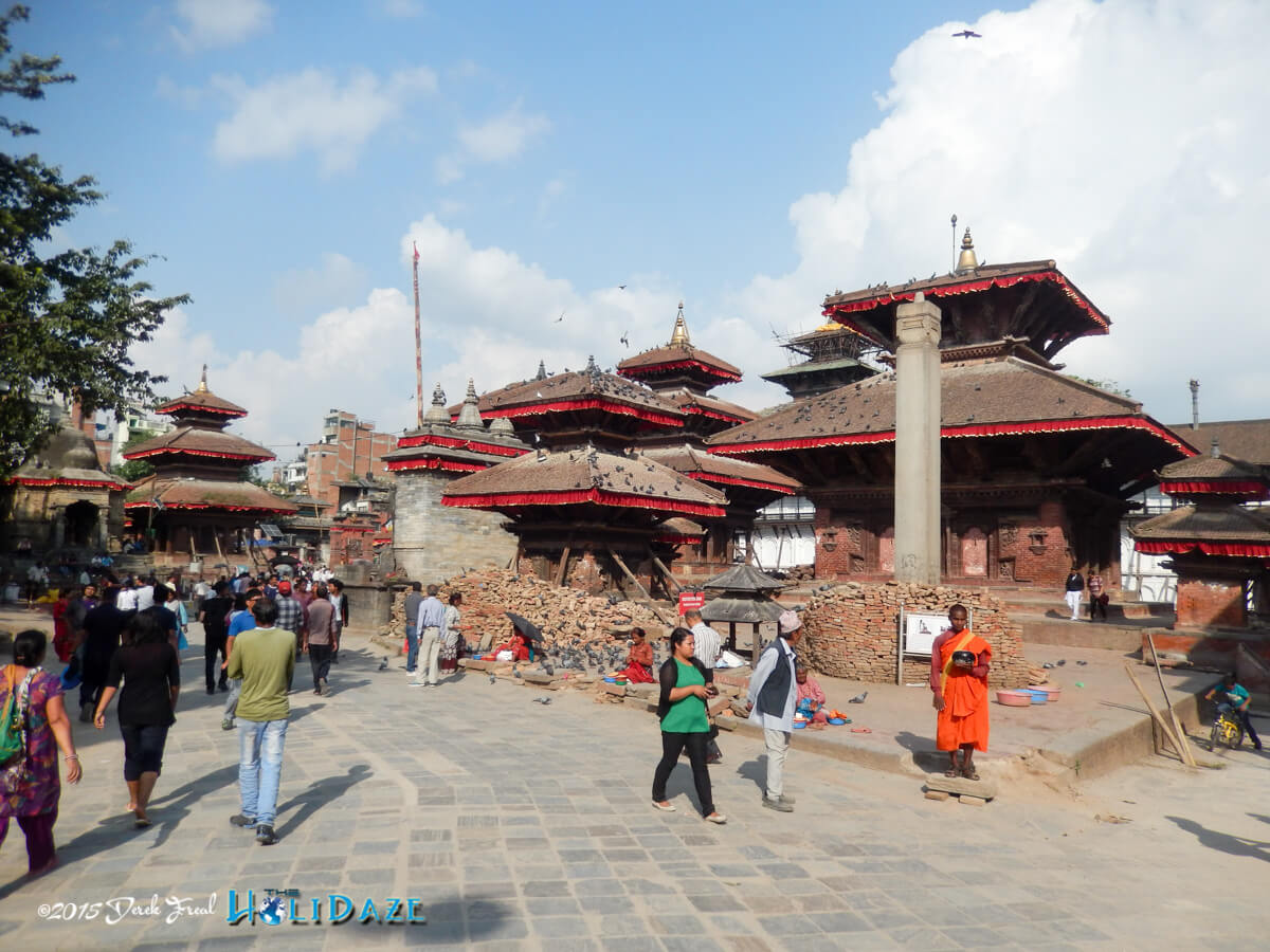Locals prepare for the Indra Jatra festival 2015