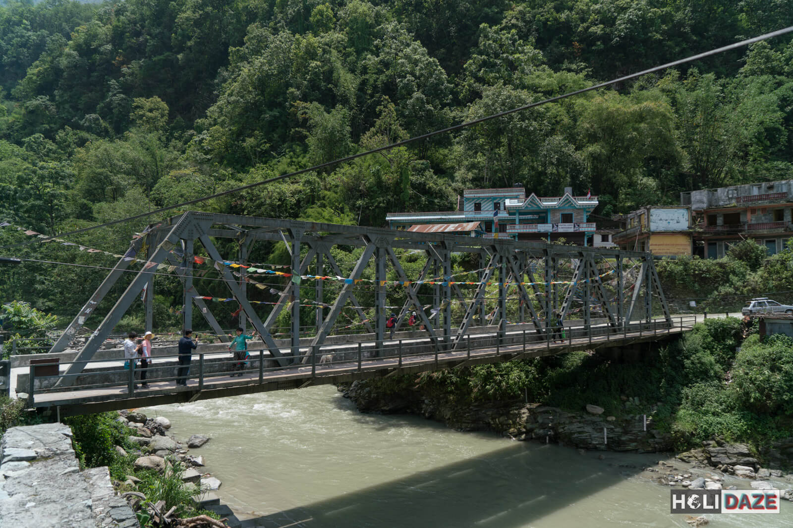 New Bridge over the Modi River in Birethanti, part of the Annapurna Conservation Area of Nepal