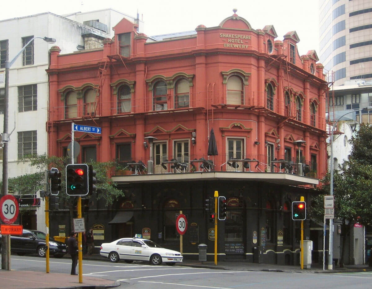 The Shakespeare Hotel & Brewery is one of the unique hotels in quirky Auckland, New Zealand