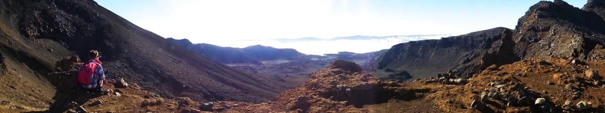 Tongariro Alpine Crossing panoramic