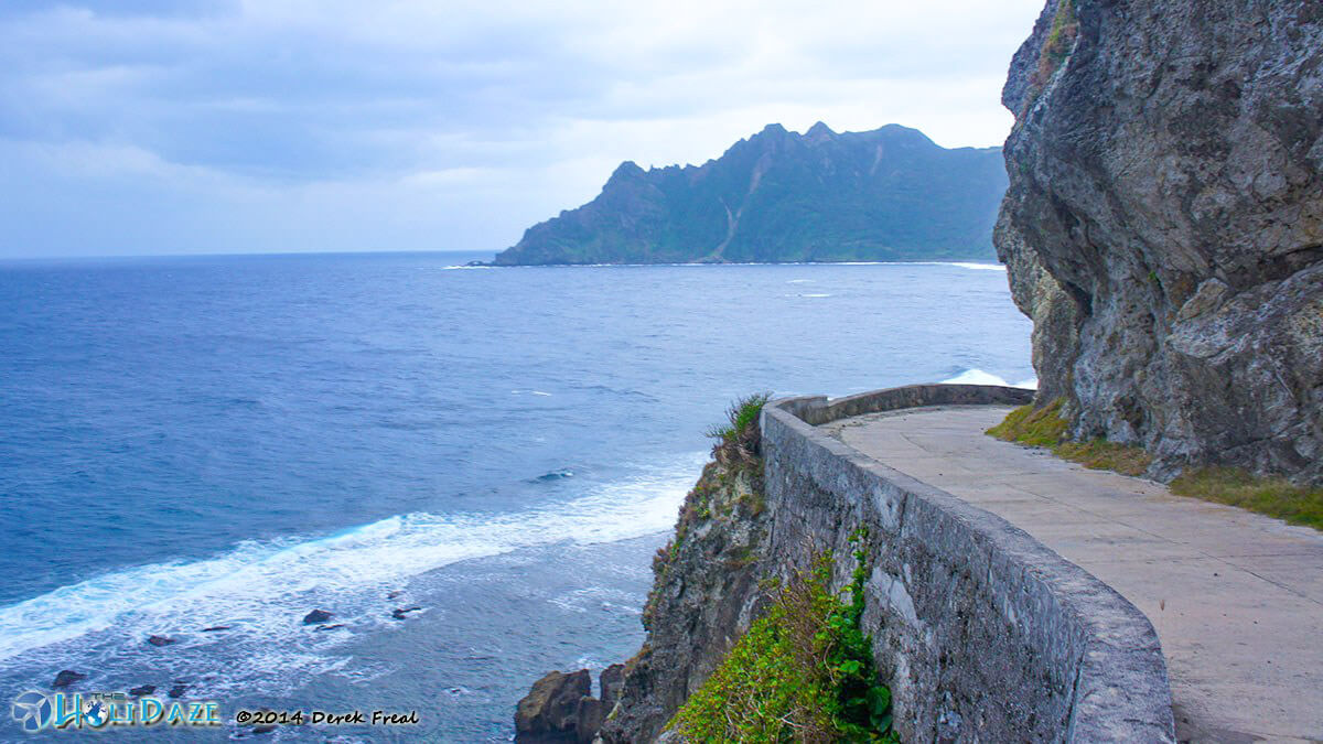 Cliff-side road on Sabtang Island, Batanes, northern Philippines