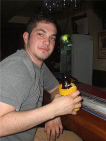 Jared enjoying a beer at Mango's Resort in Subic Bay