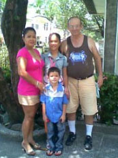 Ron and his family in the Philippines