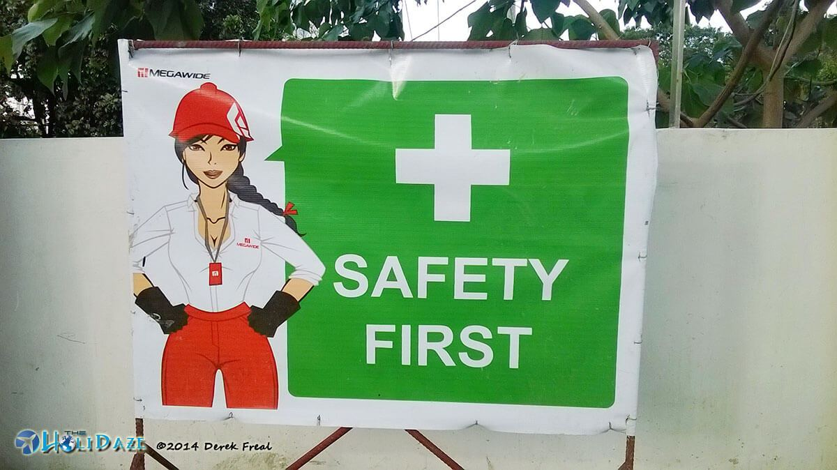 Funny Signs Around The World: Safety comes first In the Philippines but apparently sexiness comes second.