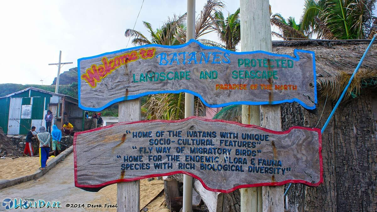 Sabtang Island welcome sign in the Philippines