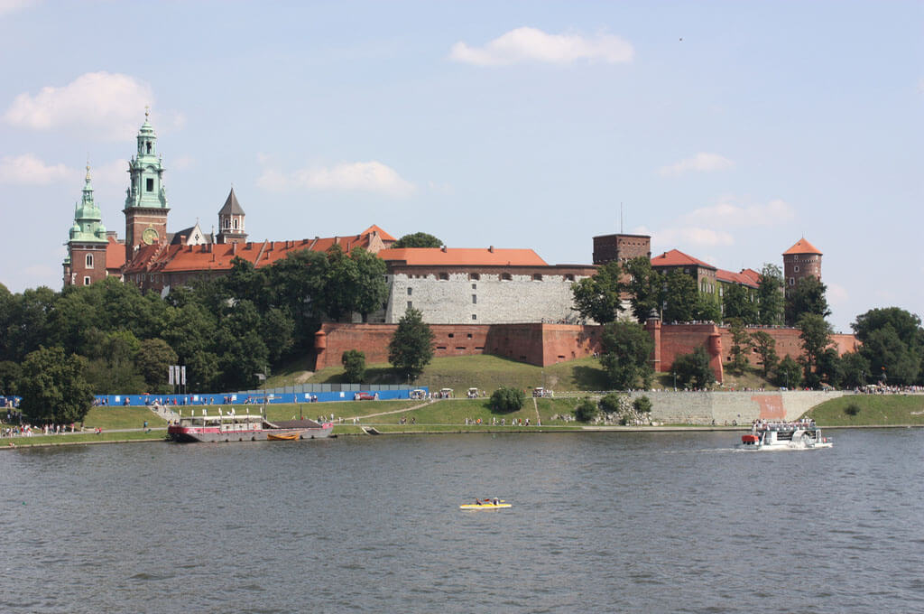 Wawel Castle is one of the top Krakow attractions with tourists