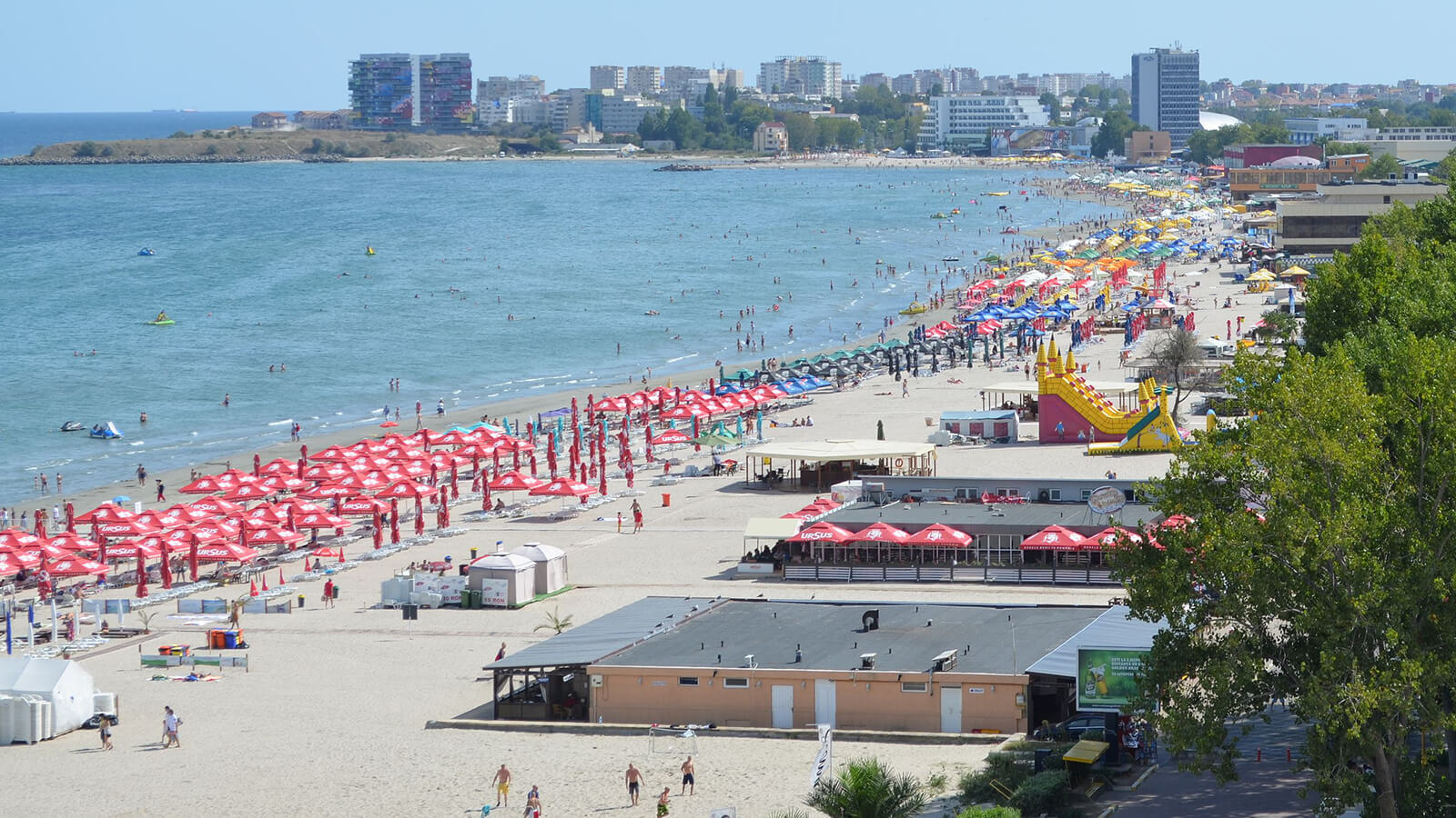 The black sand beaches of Mamaia, Romania are a must-visit destination