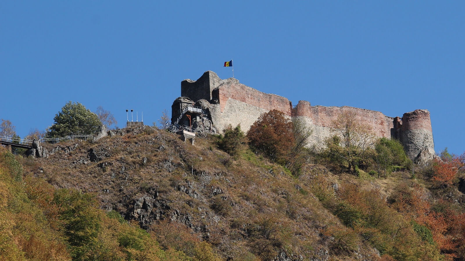 Dracula was inspired by the real life ruthlessness of 15h century Vlad the Impaler, and Poenari Castle was his home