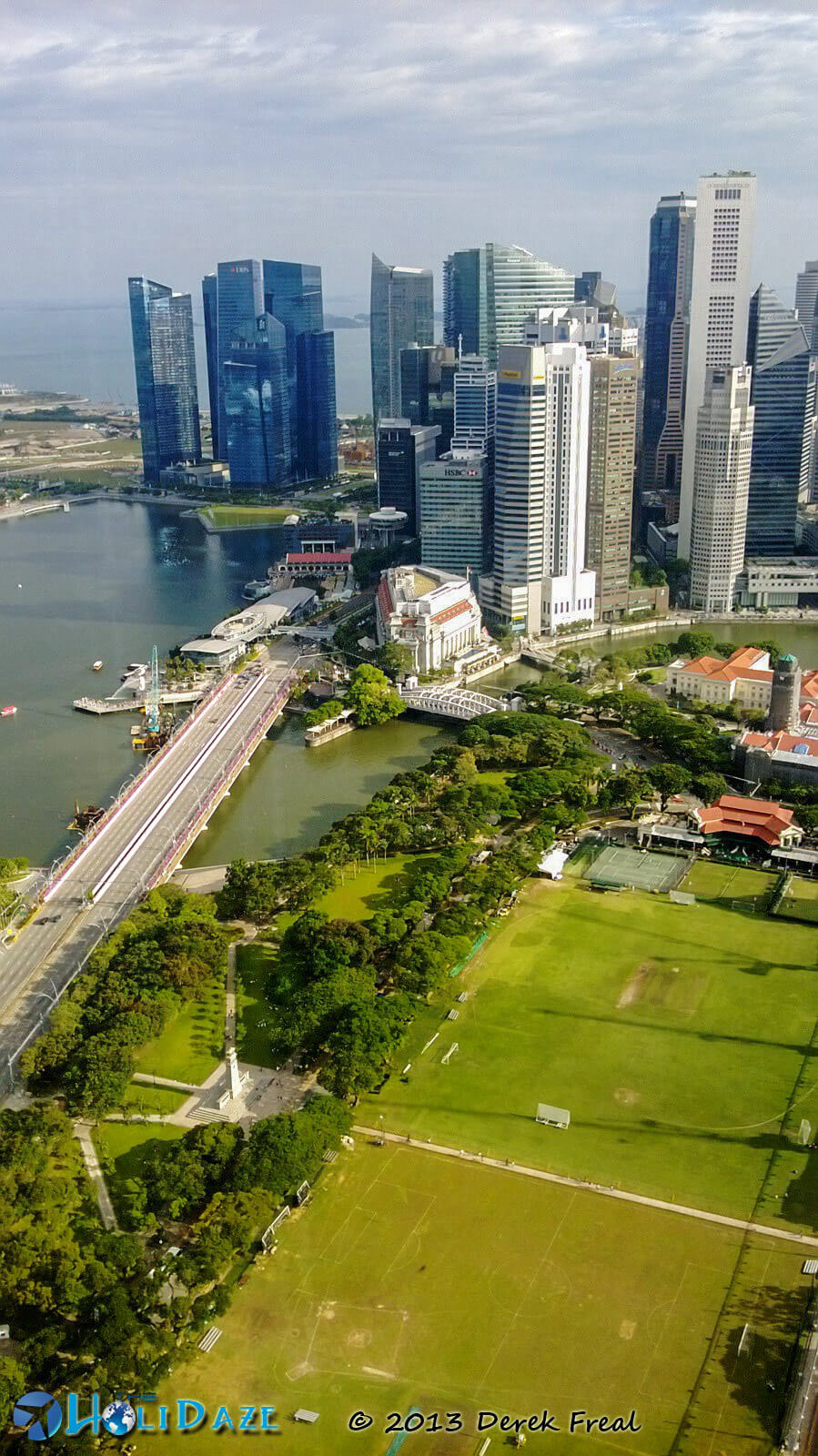 Downtown Singapore, as seen from the top of Swissotel Singapore