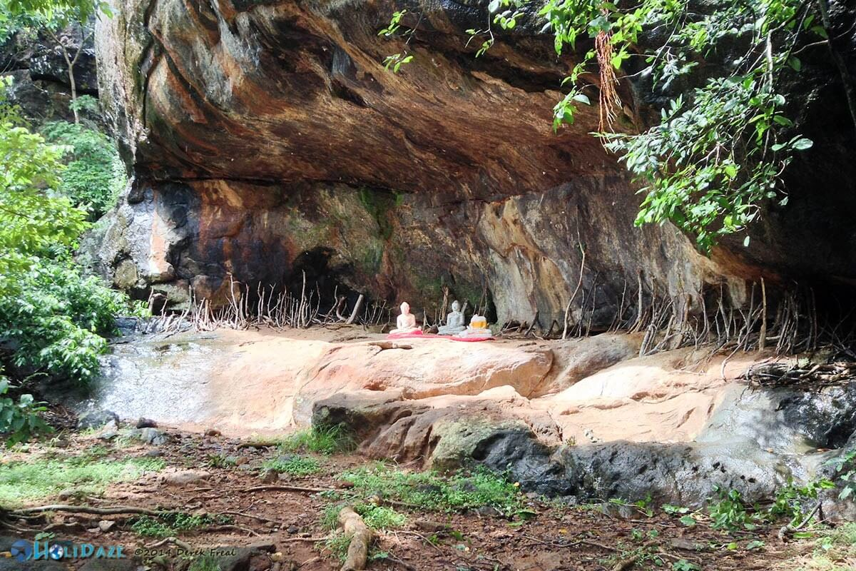 Cave nestled in the hillside of Girihadu Seya