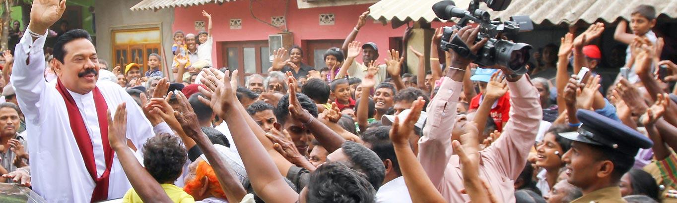 Mahinda Rajapaksa meets people in Sri Lanka