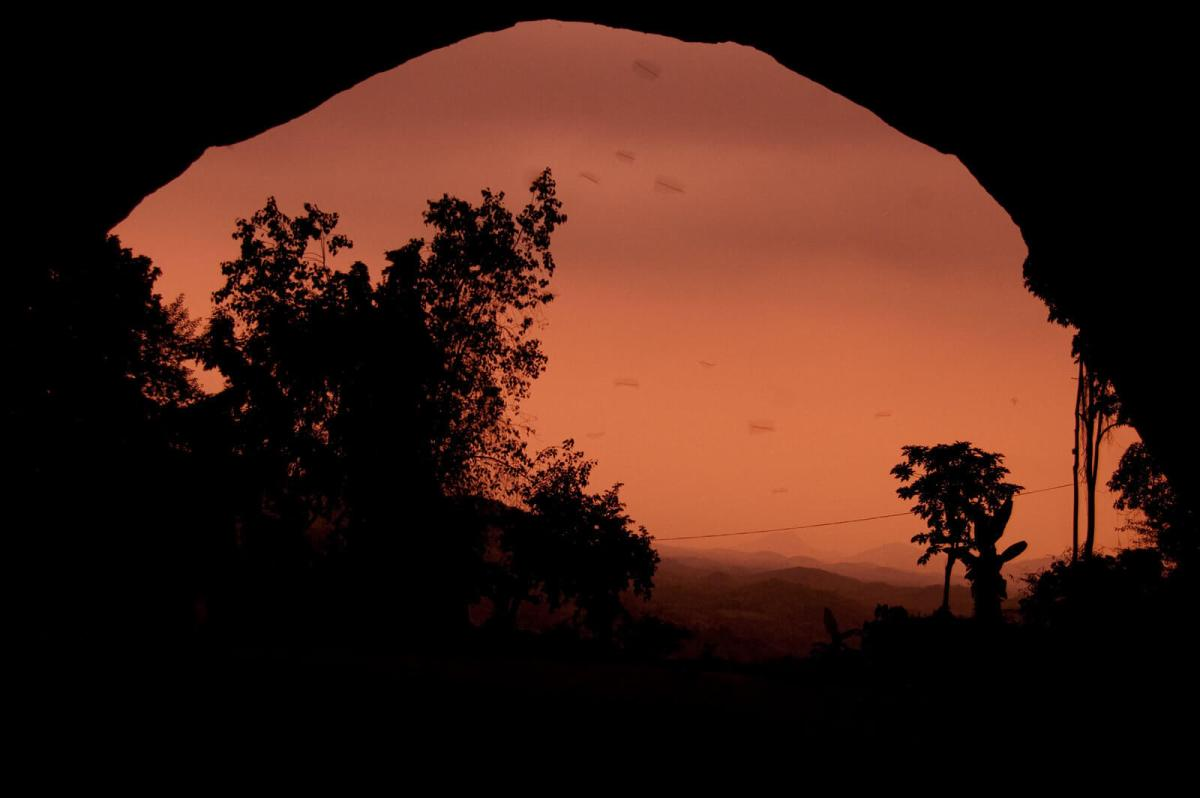Sunset view from Pahiyangala Cave in Sri Lanka