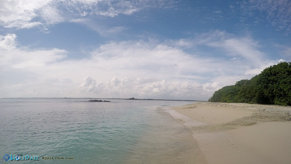 The beautiful beach on Pigeon Island, Trincomalee, Sri Lanka