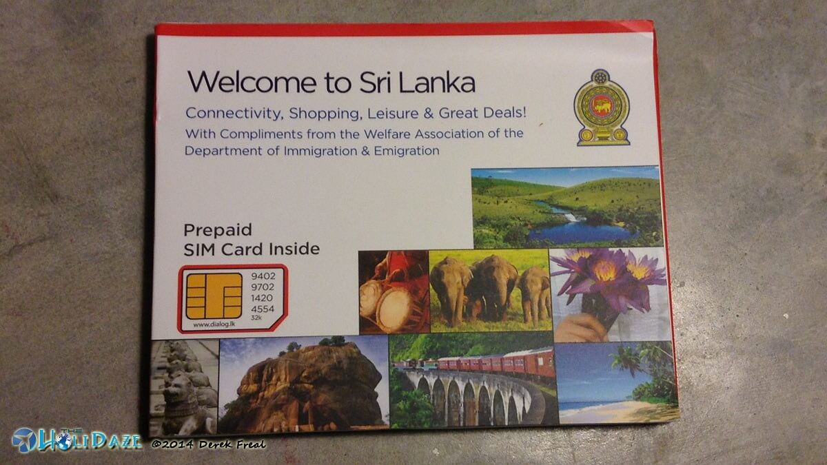 Sri Lanka tourism welcome pack and SIM card for tourists