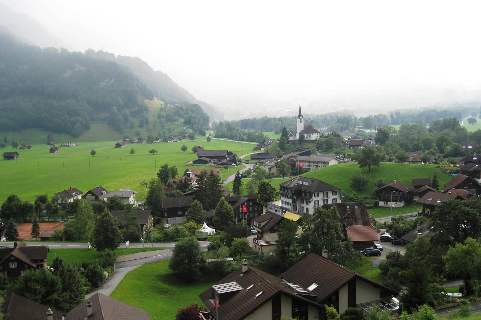 Enjoying the beautiful landscapes of Switzerland