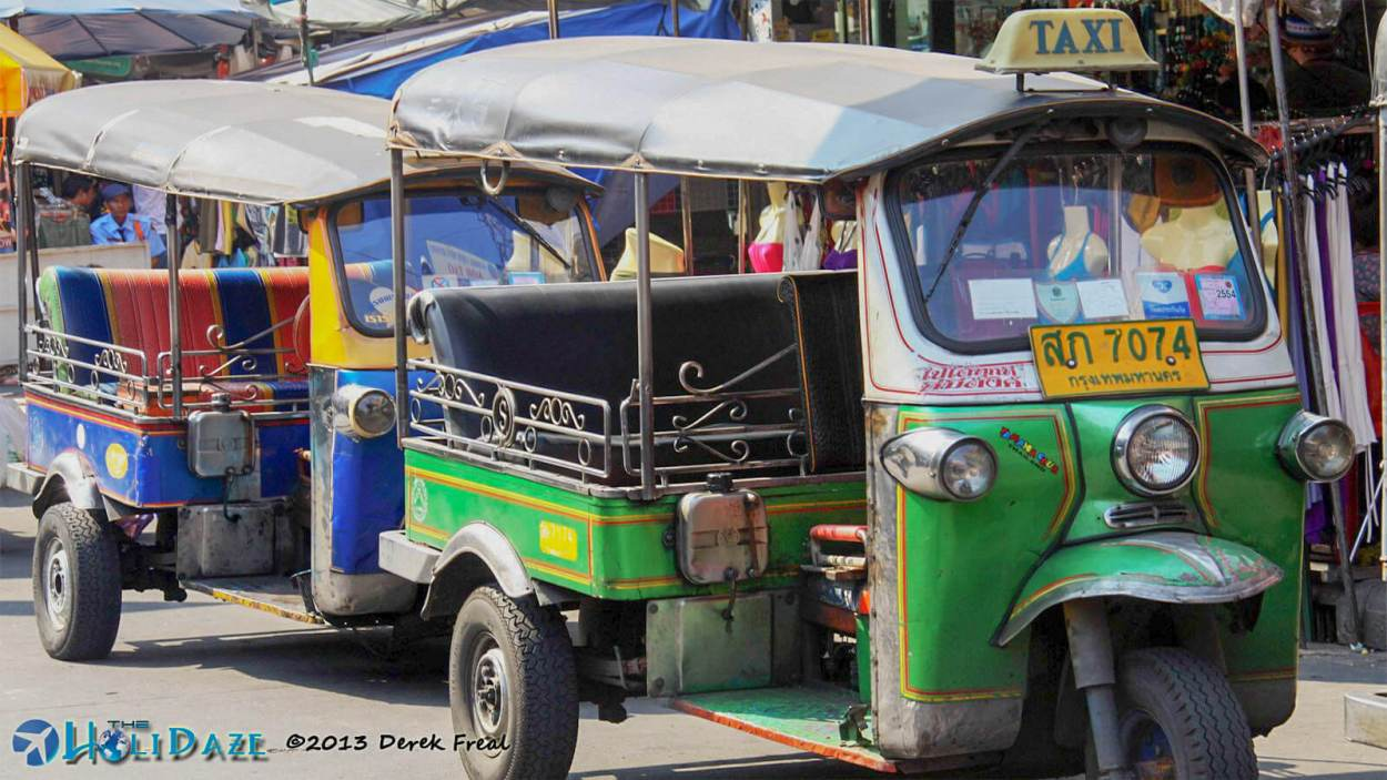 A tuk-tuk ride is a requirement of everyone's first trip to Thailand, the Land of Smiles