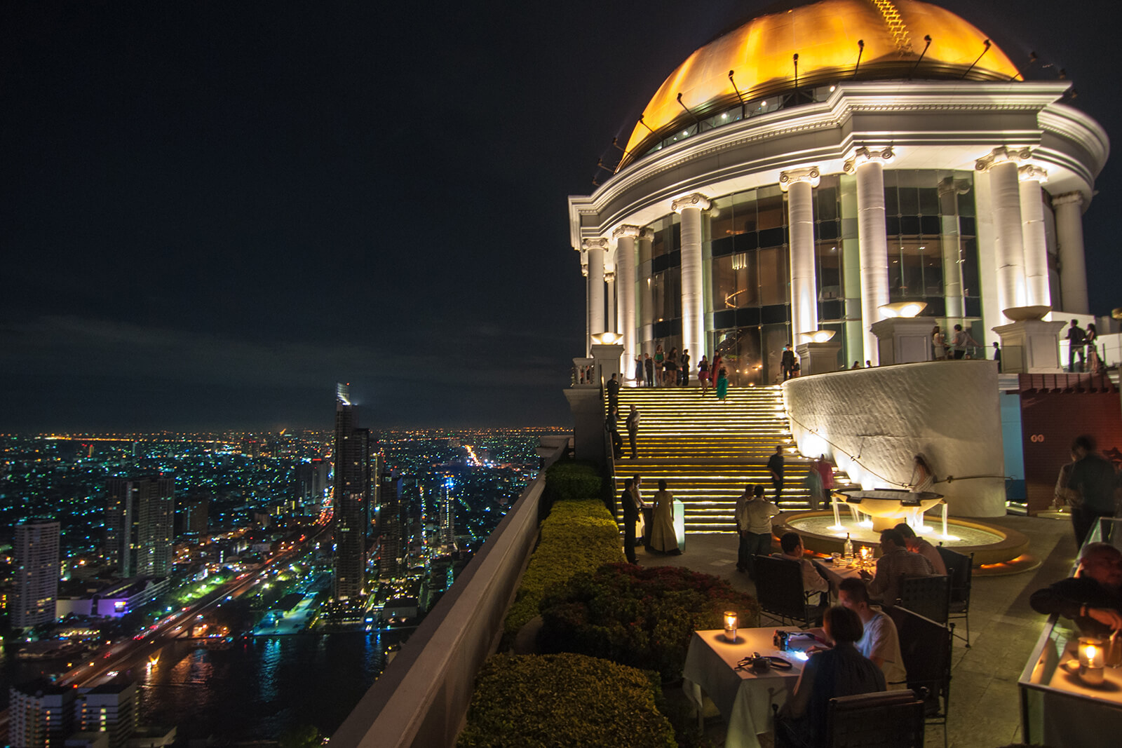 Bangkok Sky Bar, made famous by The Hangover Part Two