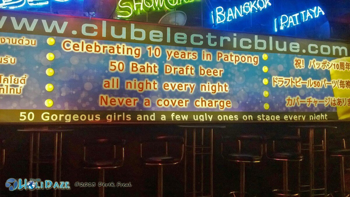 Funny Signs Around The World: Bangkok Nightlife at Patpong...50 gorgeous girls and a few ugly ones