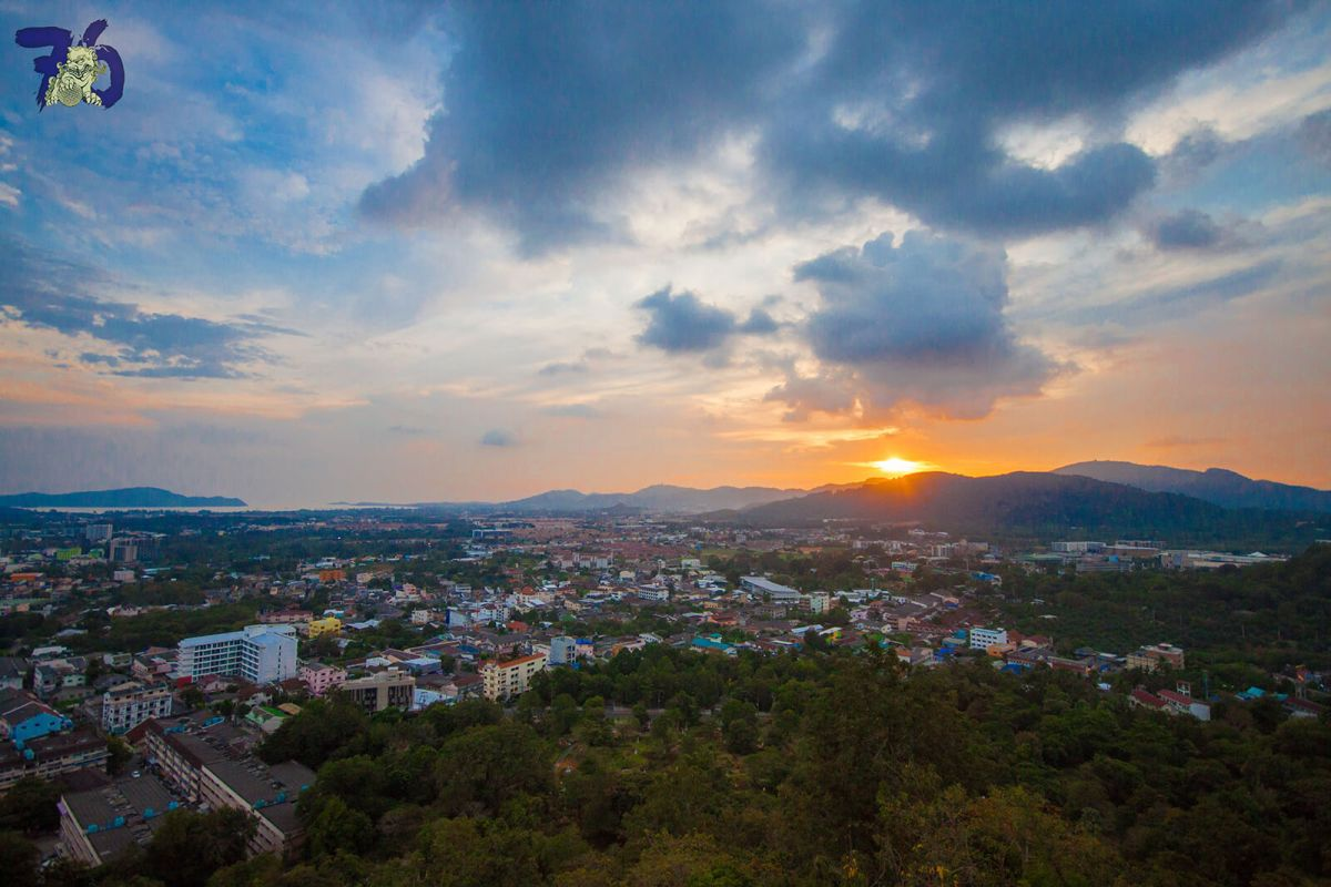 Phuket Town as seen from the Khao Rang Hill View Point