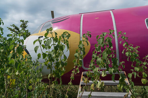 Nok Air plane (registration code HS-TRB) abandoned in the woods near Mae Rumphueng Beach, Rayong, Thailand.