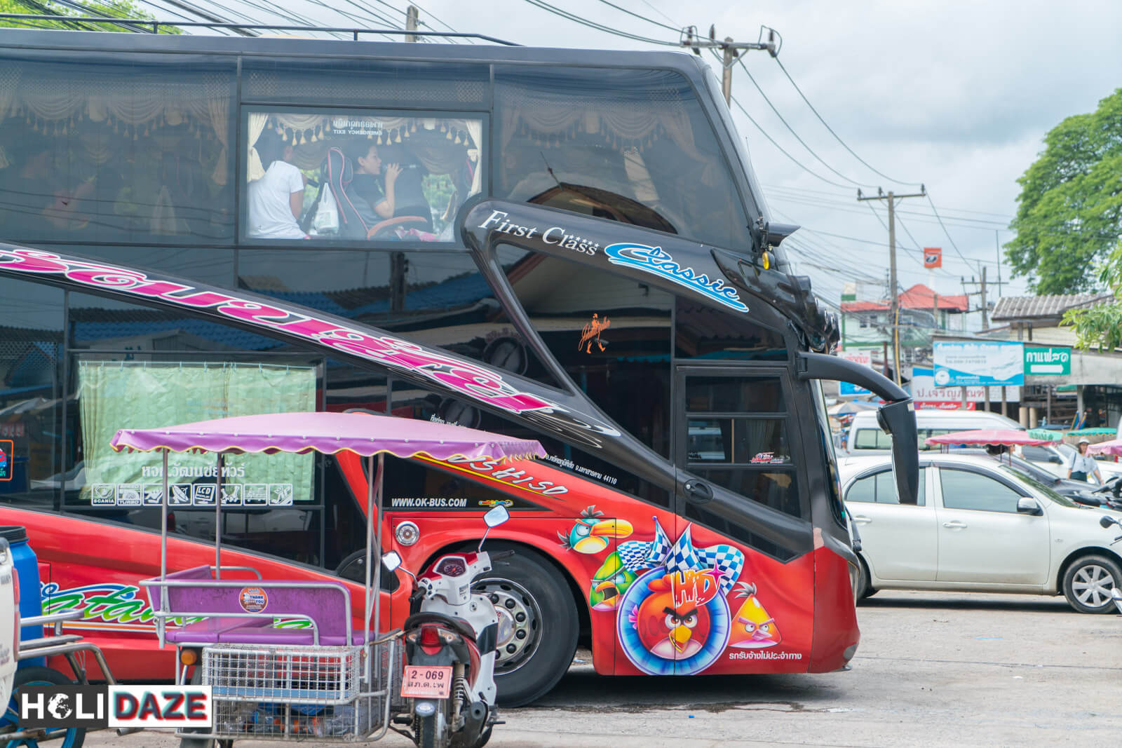 Buses in Thailand are like karaoke bars on wheels