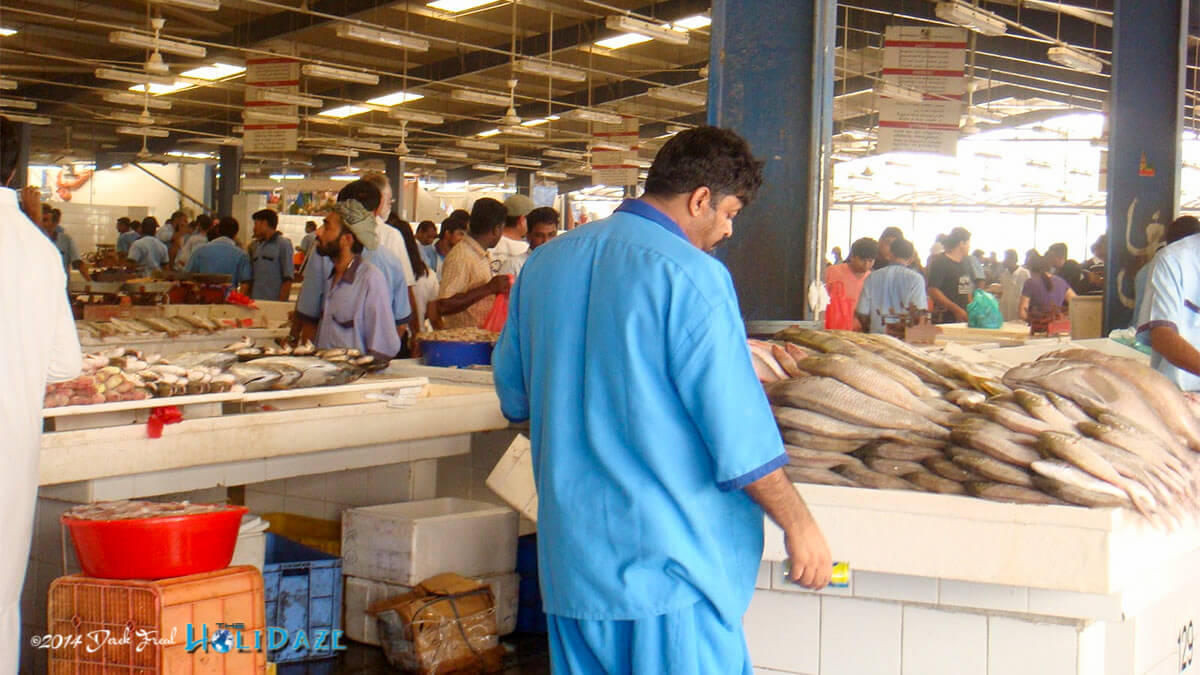 Visit the Deira Fish Market, one of the best free things to do in Dubai