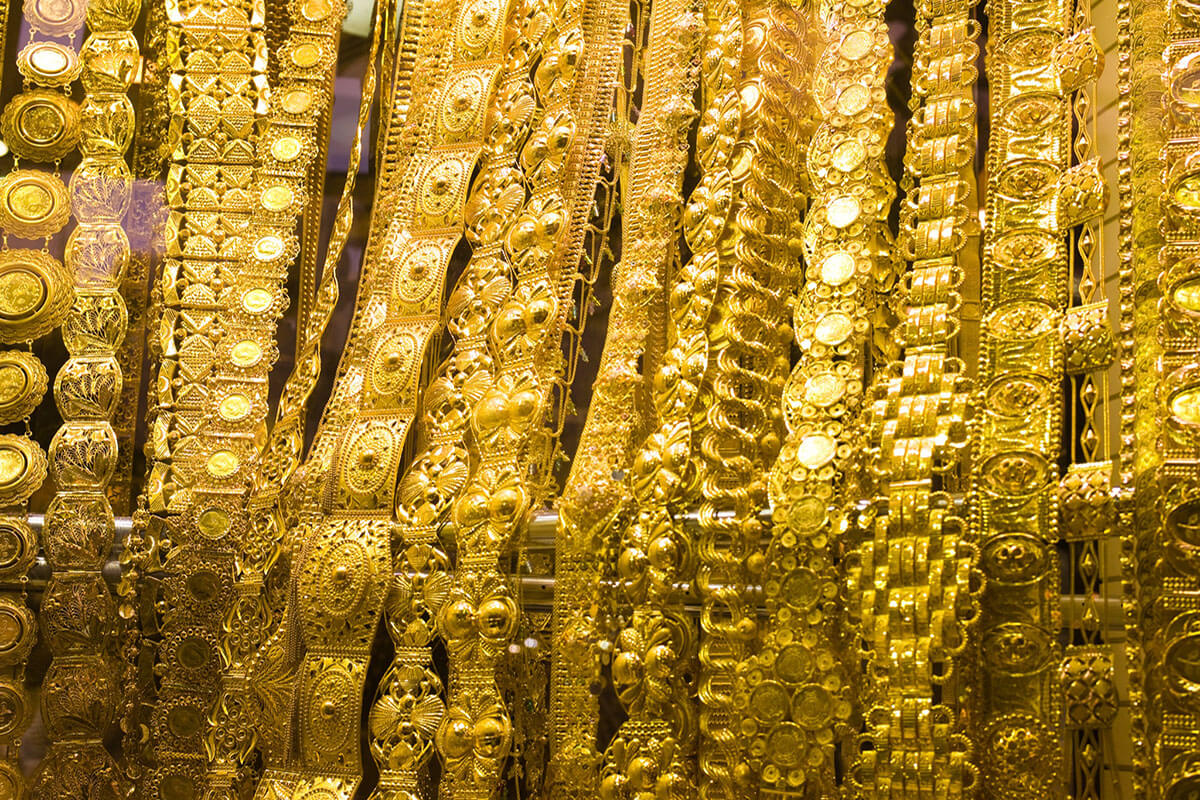Check out the Gold Souk, one of the best free things to do in Dubai