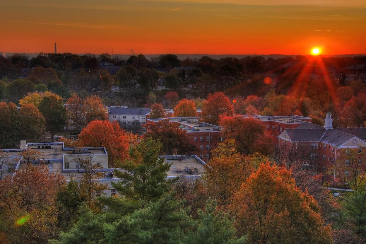Sunset over Arlington, Texas