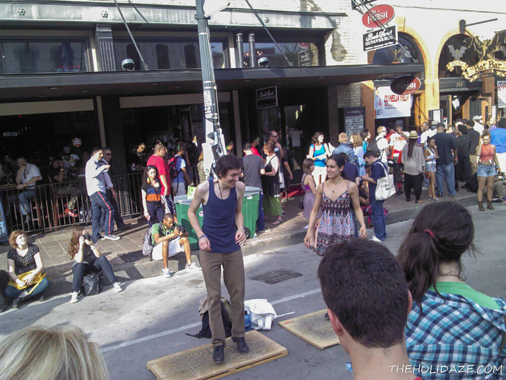 Tap-dancing on the streets of SXSW 2012 in Austin, Texas