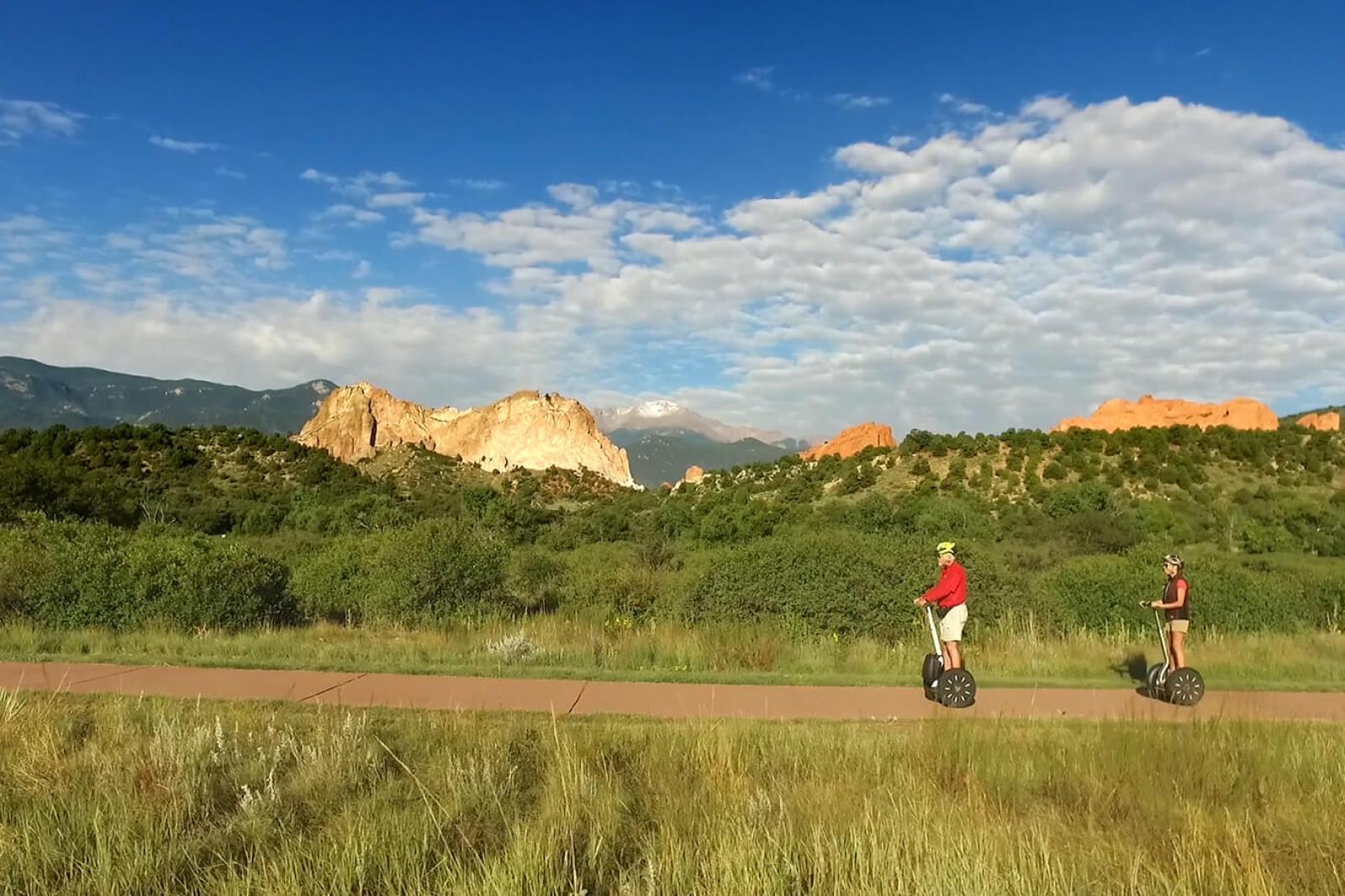 The Garden Of The Gods Visitors Center offers Segways tours