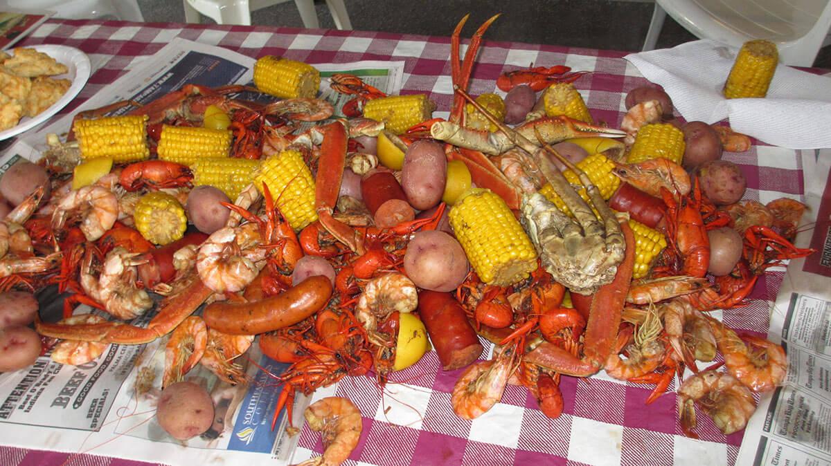 Crawfish boil in South Padre Island