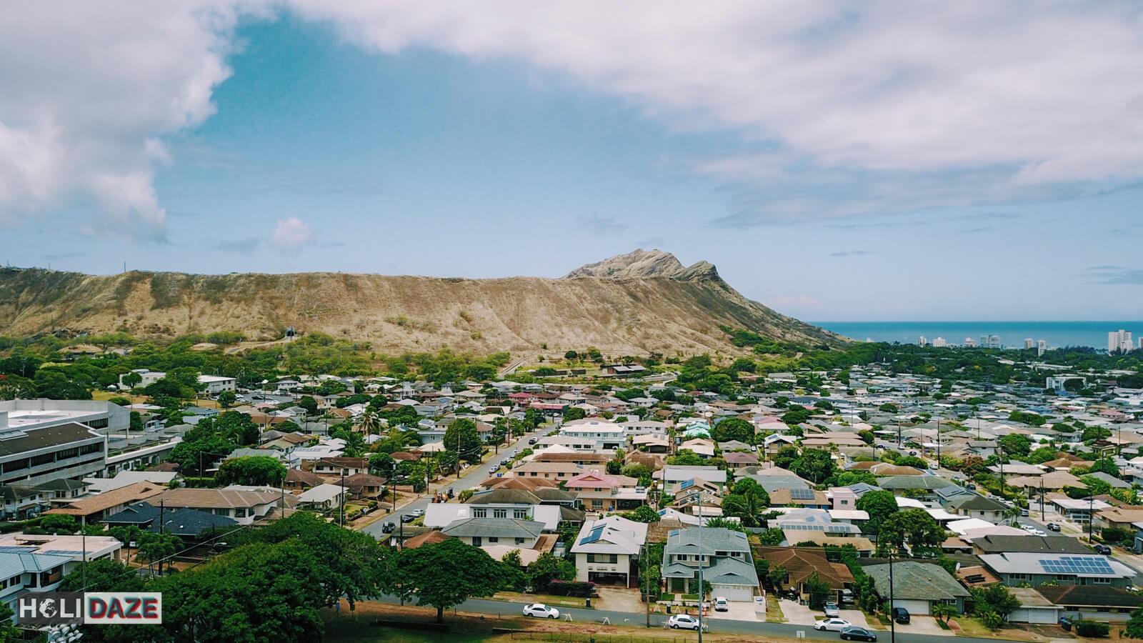 Diamond Head Volcano in Hawaii, United States