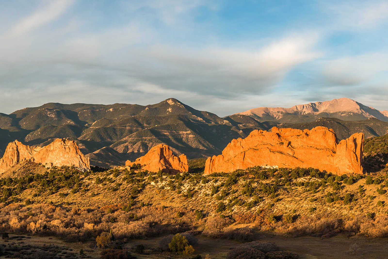 Sunrise at Garden Of The Gods in Colorado Springs, Colorado, United States