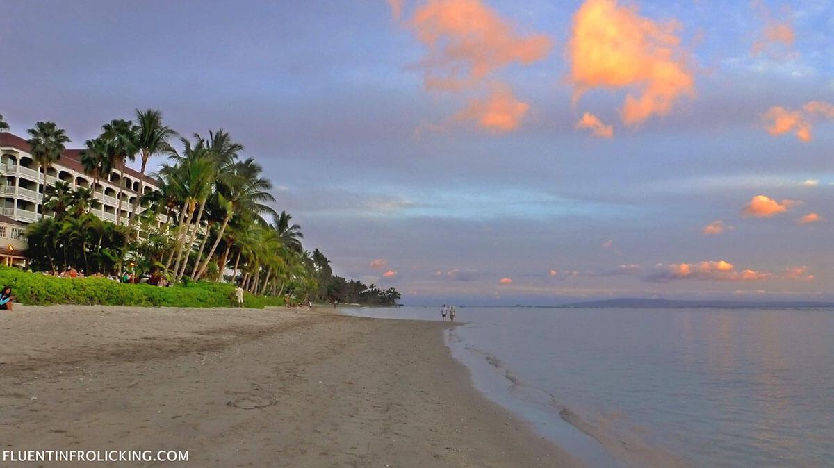 Stunning sunset in Lanai, Hawaii