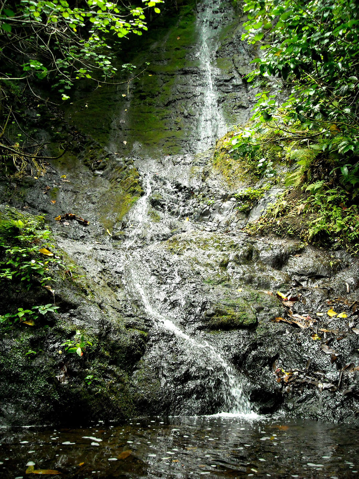 Likeke Falls outside of Honolulu, Oahu, Hawaii
