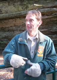 Pat Quackenbush, the naturalist at Hocking Hills State Park